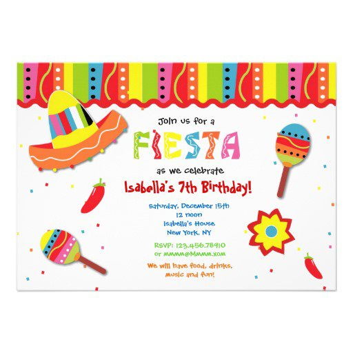 Mexican Blank Invitations Templates