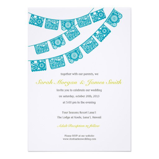 Mexican Wedding Invitation Templates