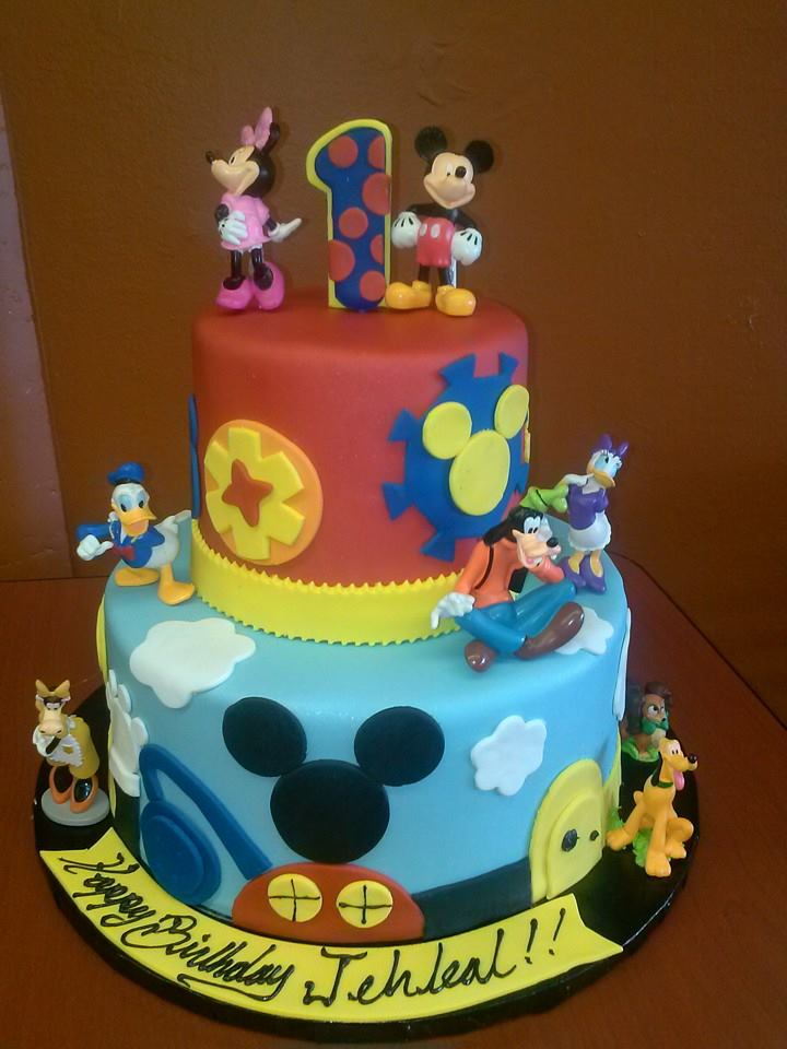 Mickey And Minnie Mouse Baby Shower Cakes