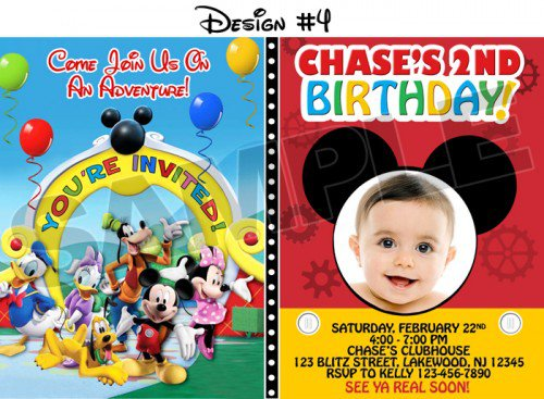 Mickey Mouse Birthday Invitation Ideas