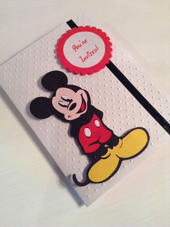 Mickey Mouse Clubhouse Handmade Invitations