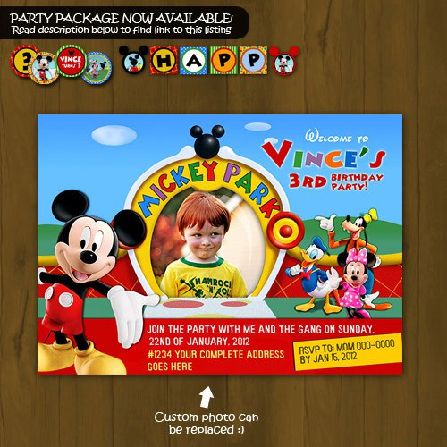 Custom Mickey Mouse Invitation orderecigsjuiceinfo