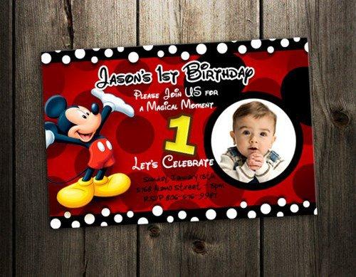 Mickey Mouse Custom Birthday Invitations