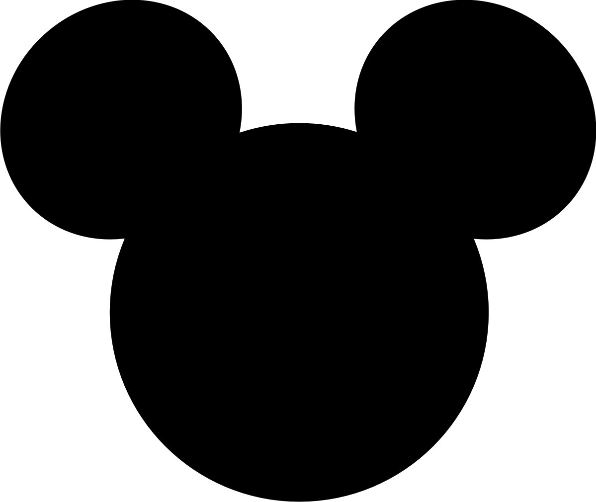 Mickey Mouse Ears Outline Clip Art
