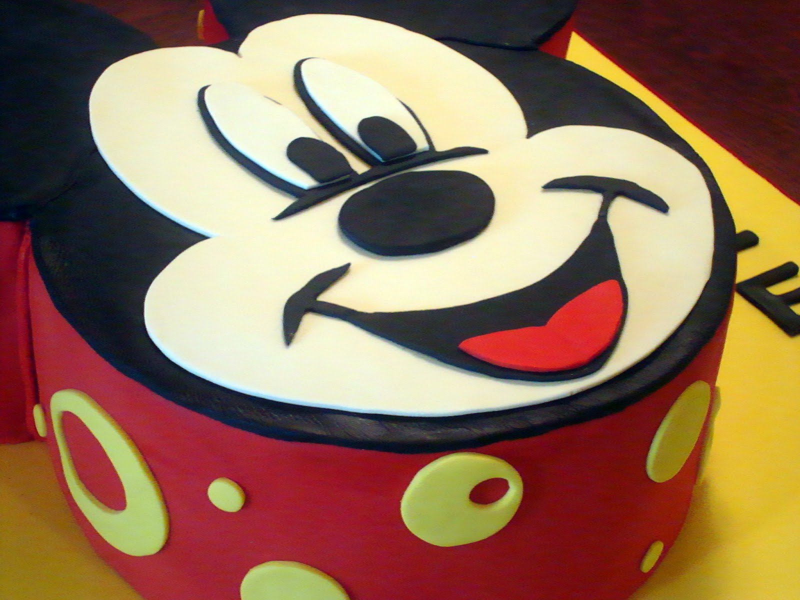 Mickey Mouse Face Template For Cake