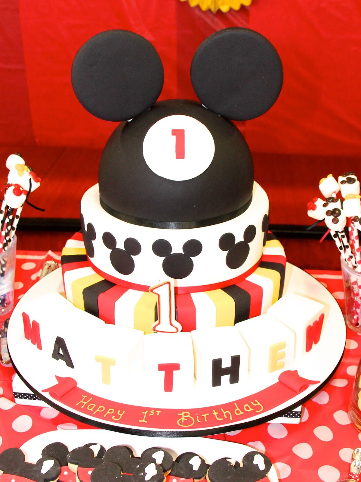 Mickey Mouse Party Ideas For 1st Birthday