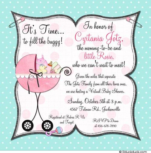 Military Baby Shower Invitation Wording