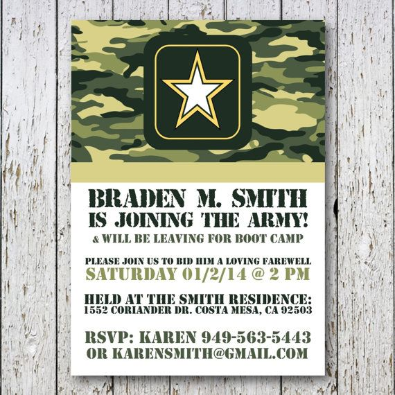 Going Away Party Invitations – Military Party Invitations
