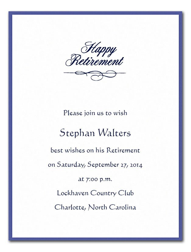 Military Retirement Invitations Wording