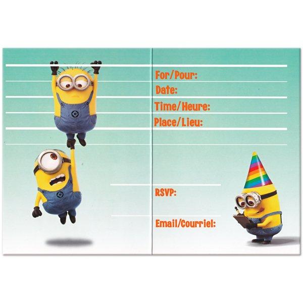 Minion Birthday Invitations Free Printable