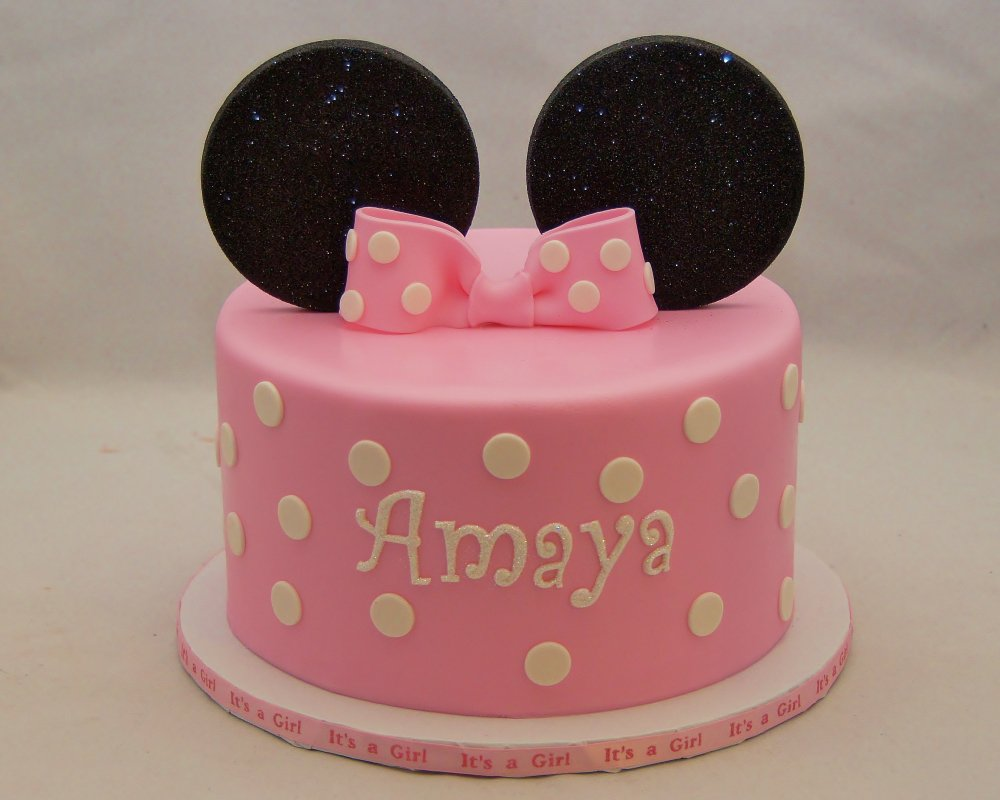 Minnie Mouse Baby Shower Cakes Pinterest