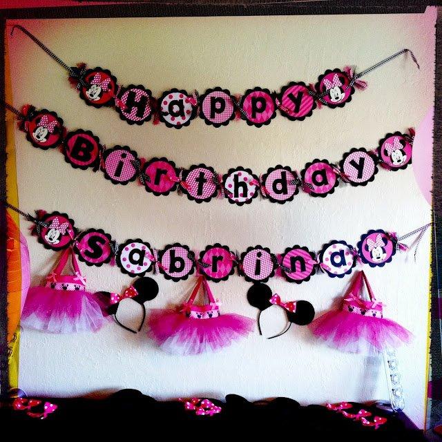 Minnie Mouse Birthday Party Ideas Pinterest
