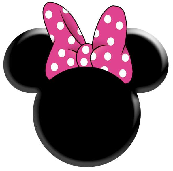 Minnie Mouse Head Printable Template