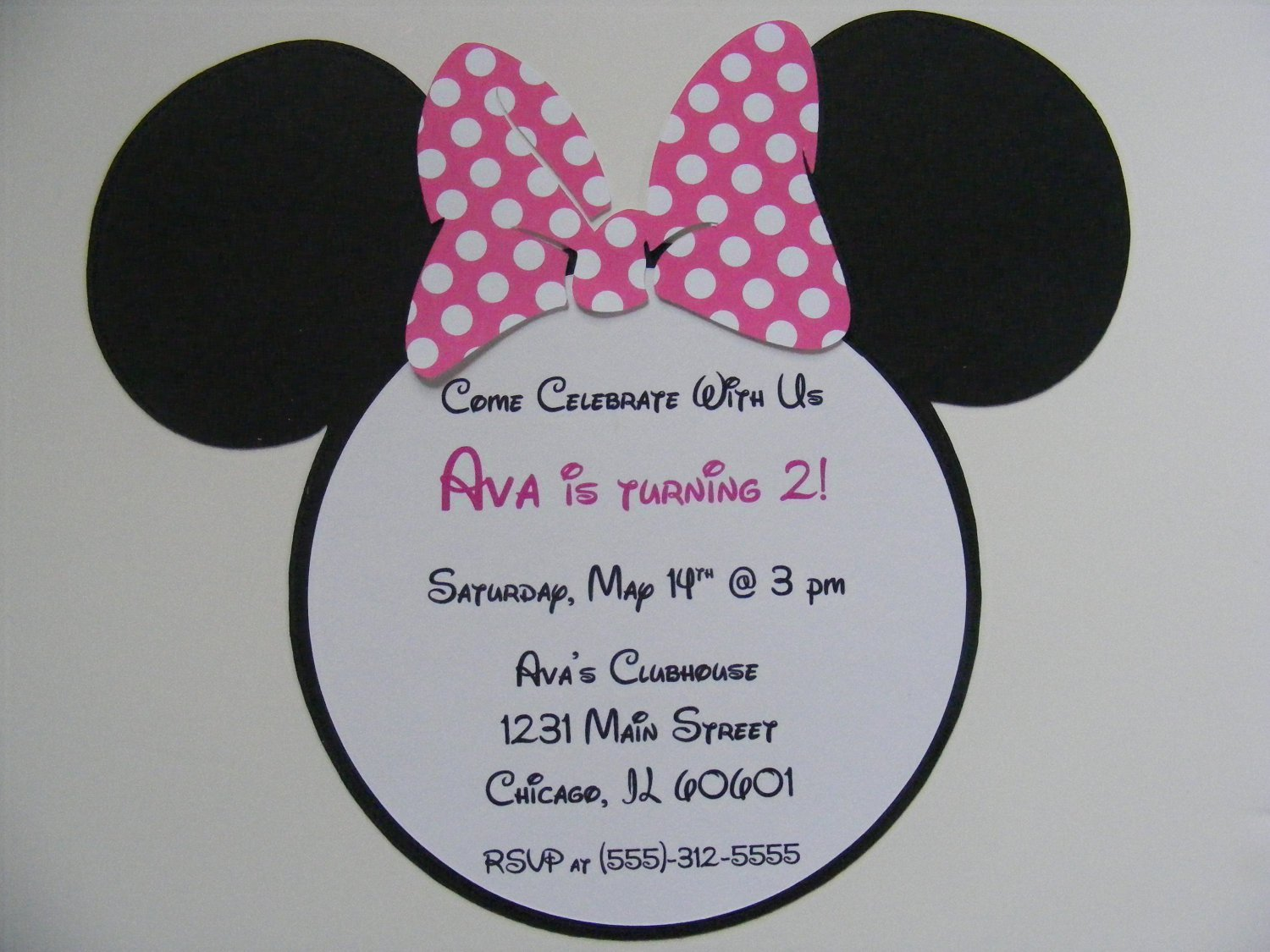 Minnie Mouse Party Invitation Wording