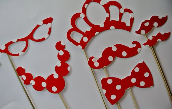 Minnie Mouse Photo Booth Props
