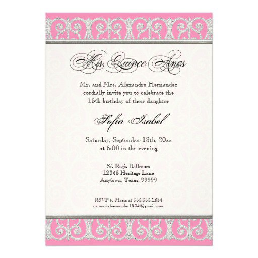 Quinceanera invitation sayings orderecigsjuicefo baptism invitation wording in spanish alesi wedding invitations filmwisefo