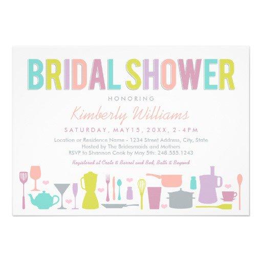Modern Bridal Shower Invitations