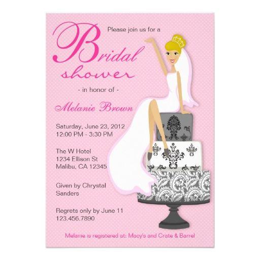 Modern Chic Bridal Shower Invitations