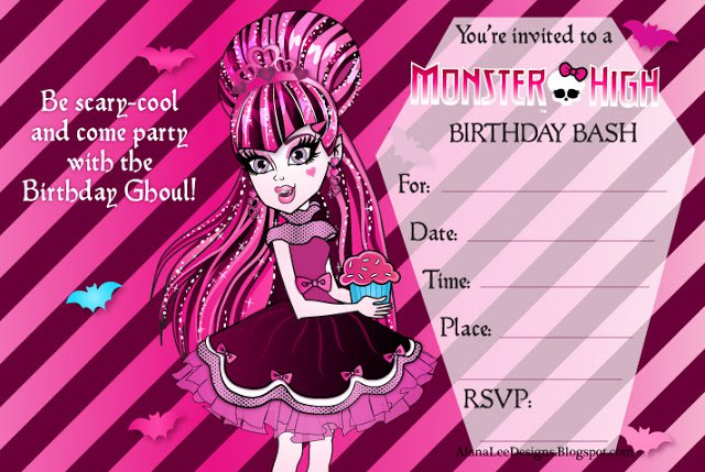 Monster High Party Invitations Free Printable