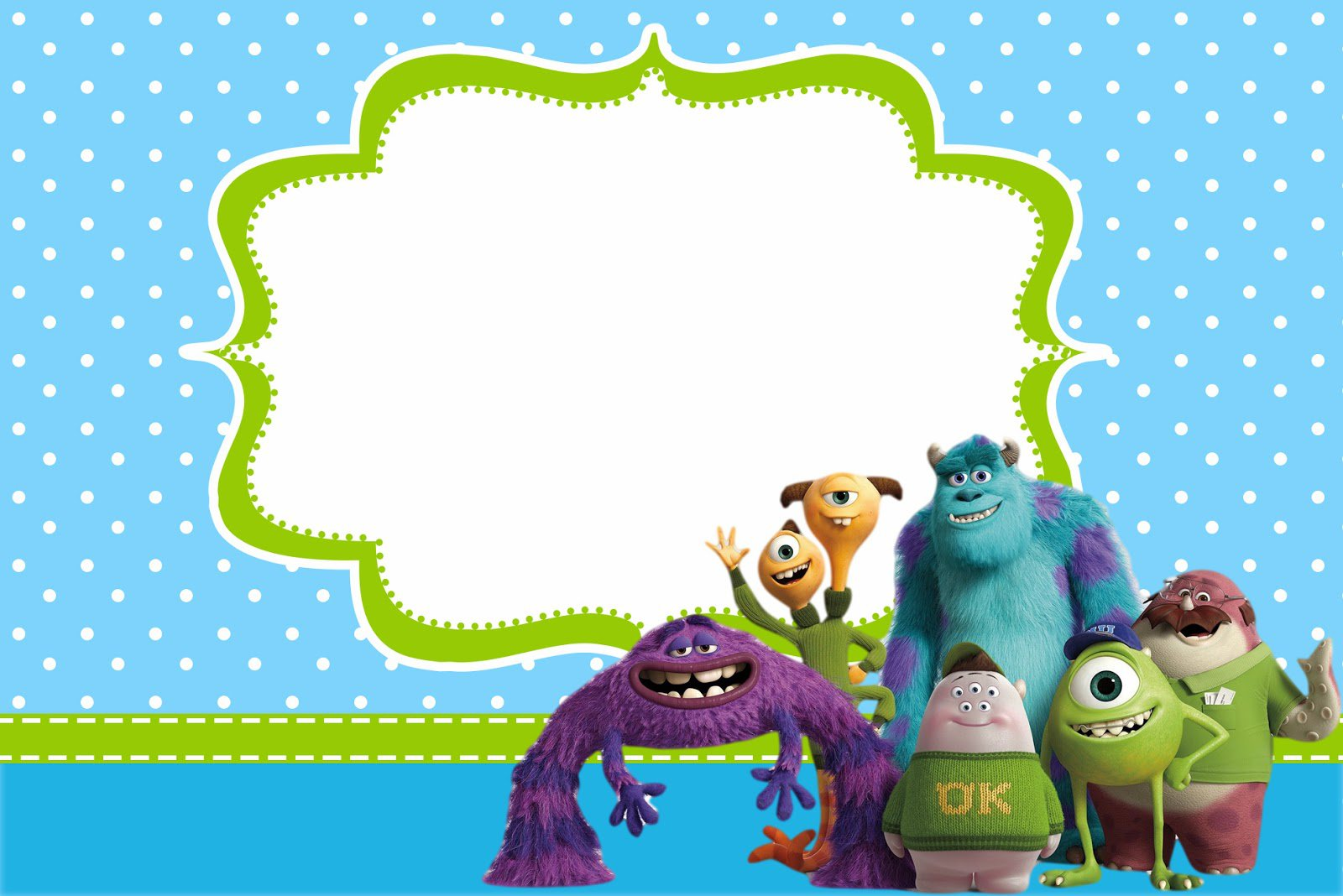 Monster Party Invitations Templates Free