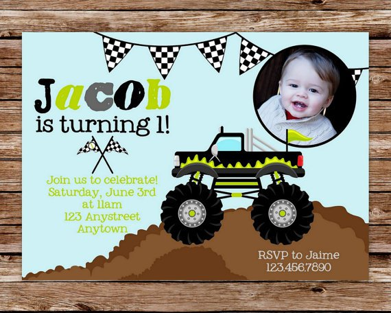 Monster Truck Invitations Printable