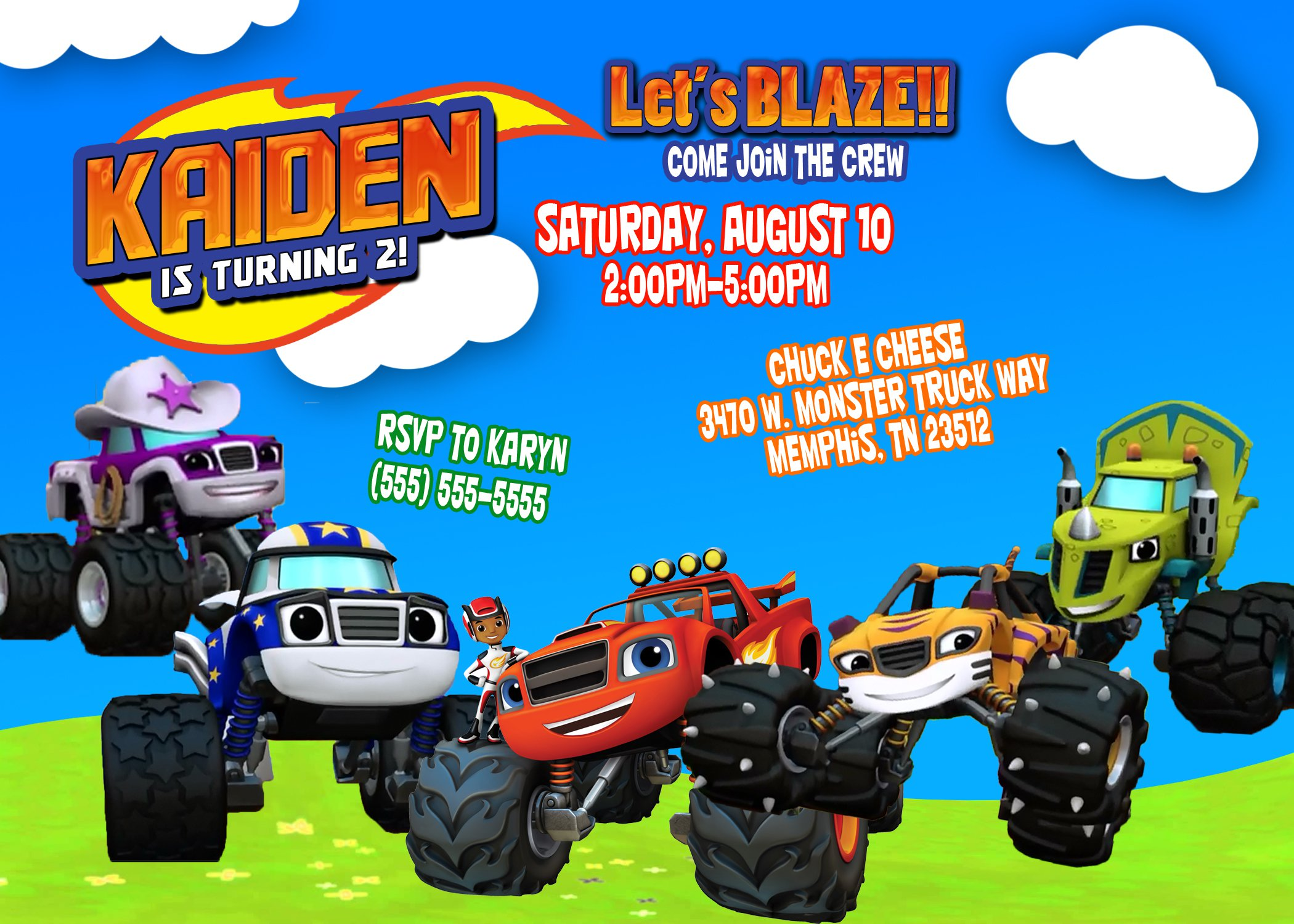 Monster Truck Party Invitation Ideas