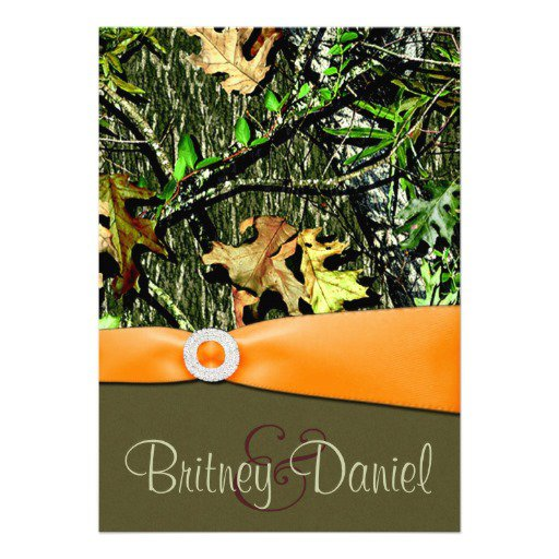 Mossy Oak Camo Wedding Invitations
