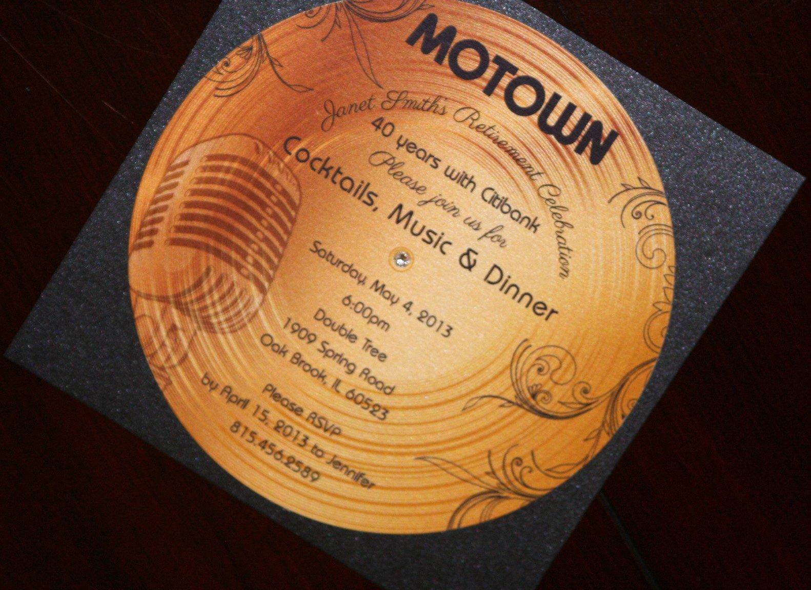 Motown Birthday Invitations