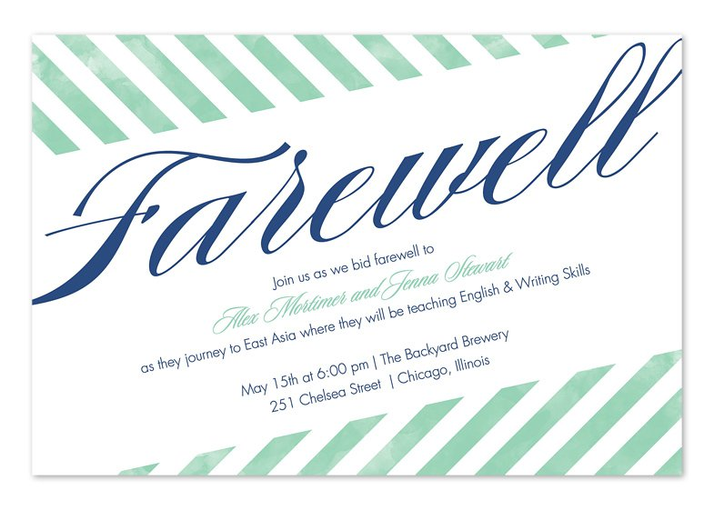 Moving Away Party Invitation Template