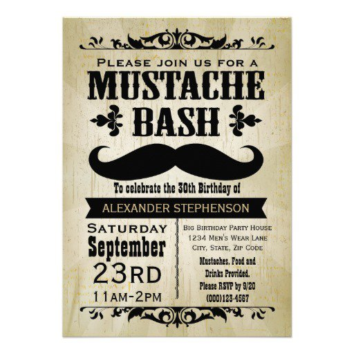 mustache party invitations template 512 x 512 - Mustache Party Invitations