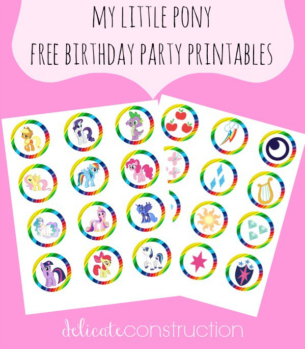 My Little Pony Free Printables Birthday