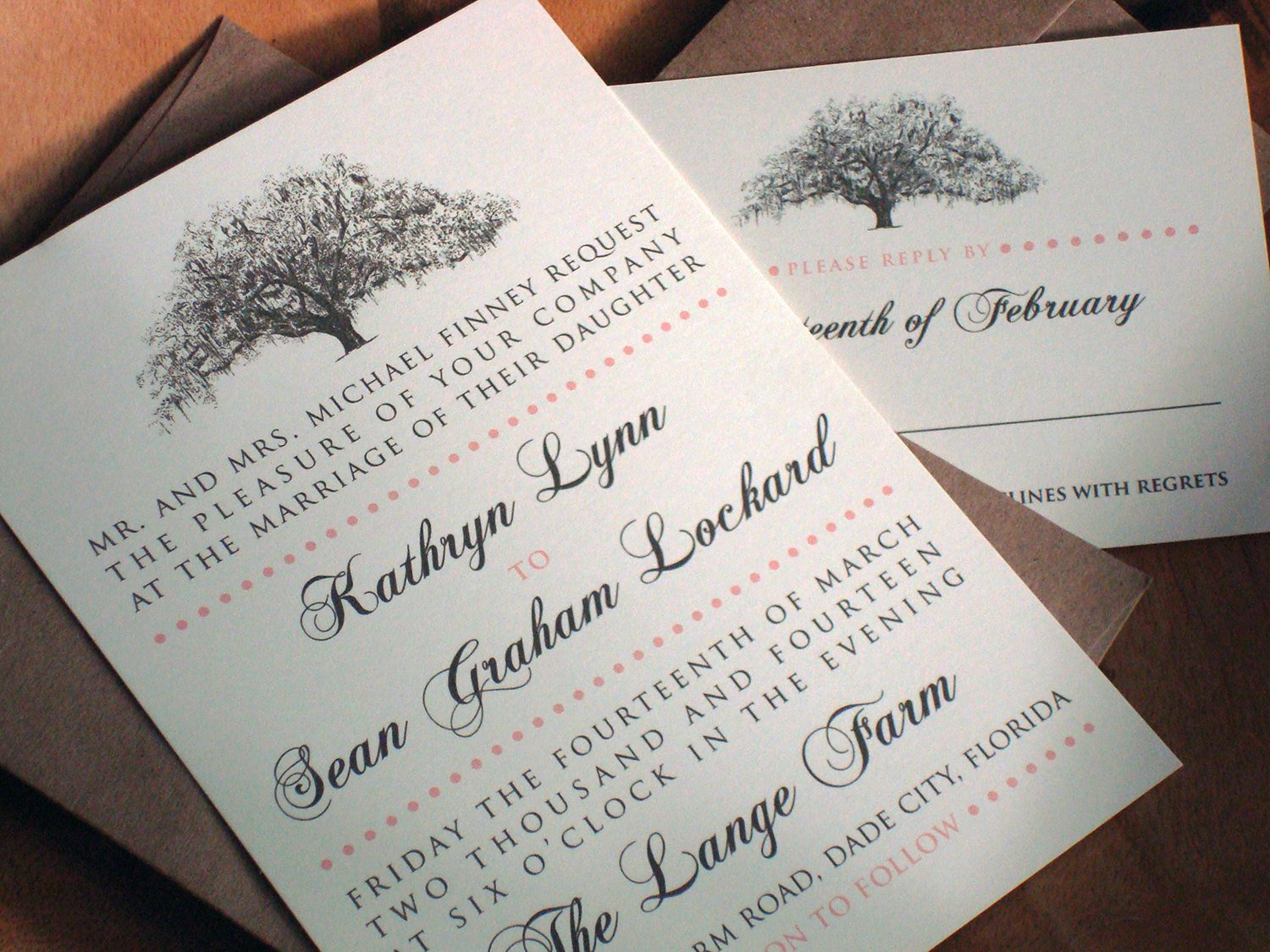 Natural Brown Paper Wedding Invitations