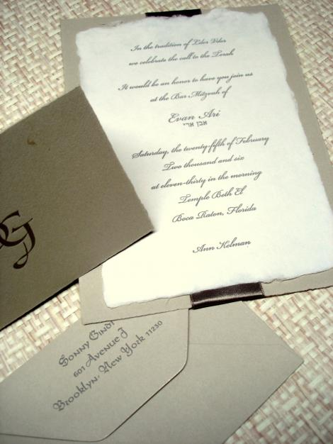 Natural Paper Wedding Invitations