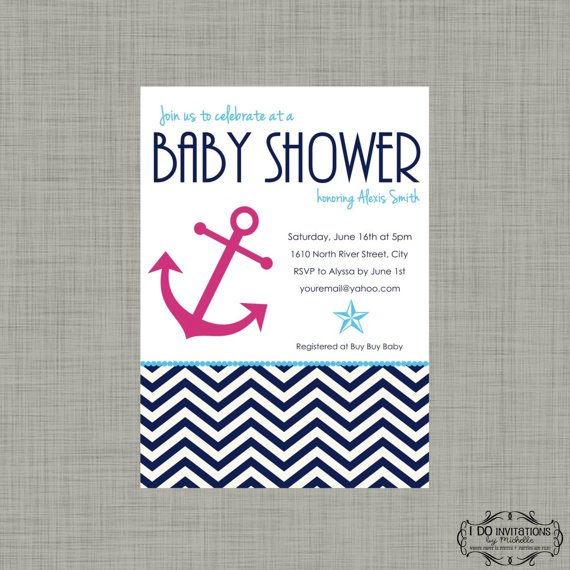 Nautical Baby Shower Invitations Templates