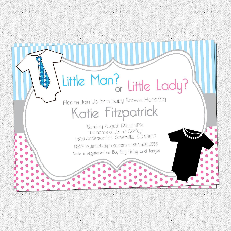 Neutral Baby Shower Blank Invitations