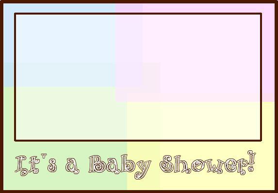 Neutral Blank Baby Shower Invitations