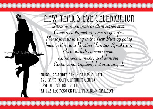 New Year Invitation Wording Funny