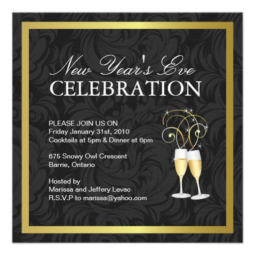 New year party invitation templates free for New year invite templates free
