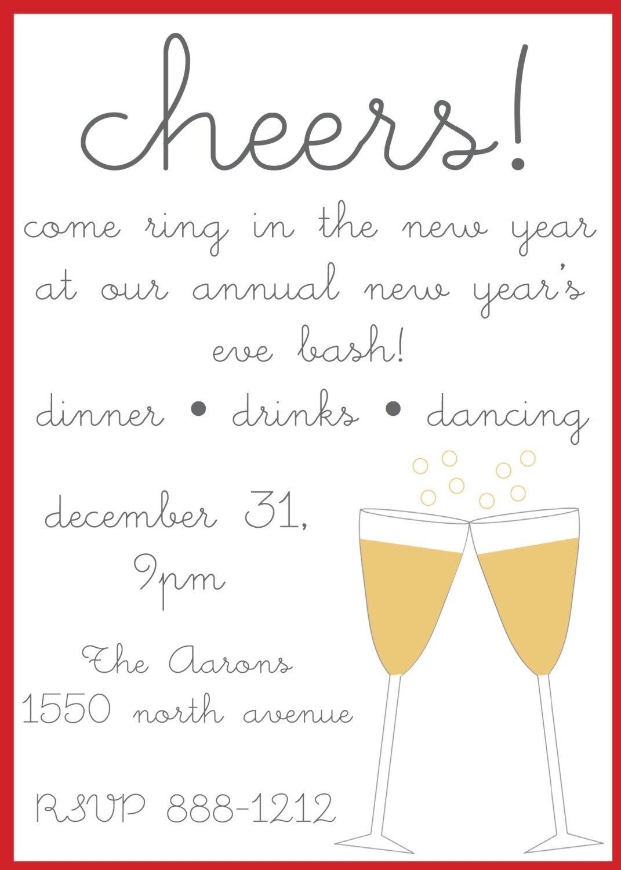 New Year S Eve Invitation Wording