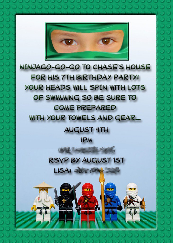 Ninjago Invitation Template Free