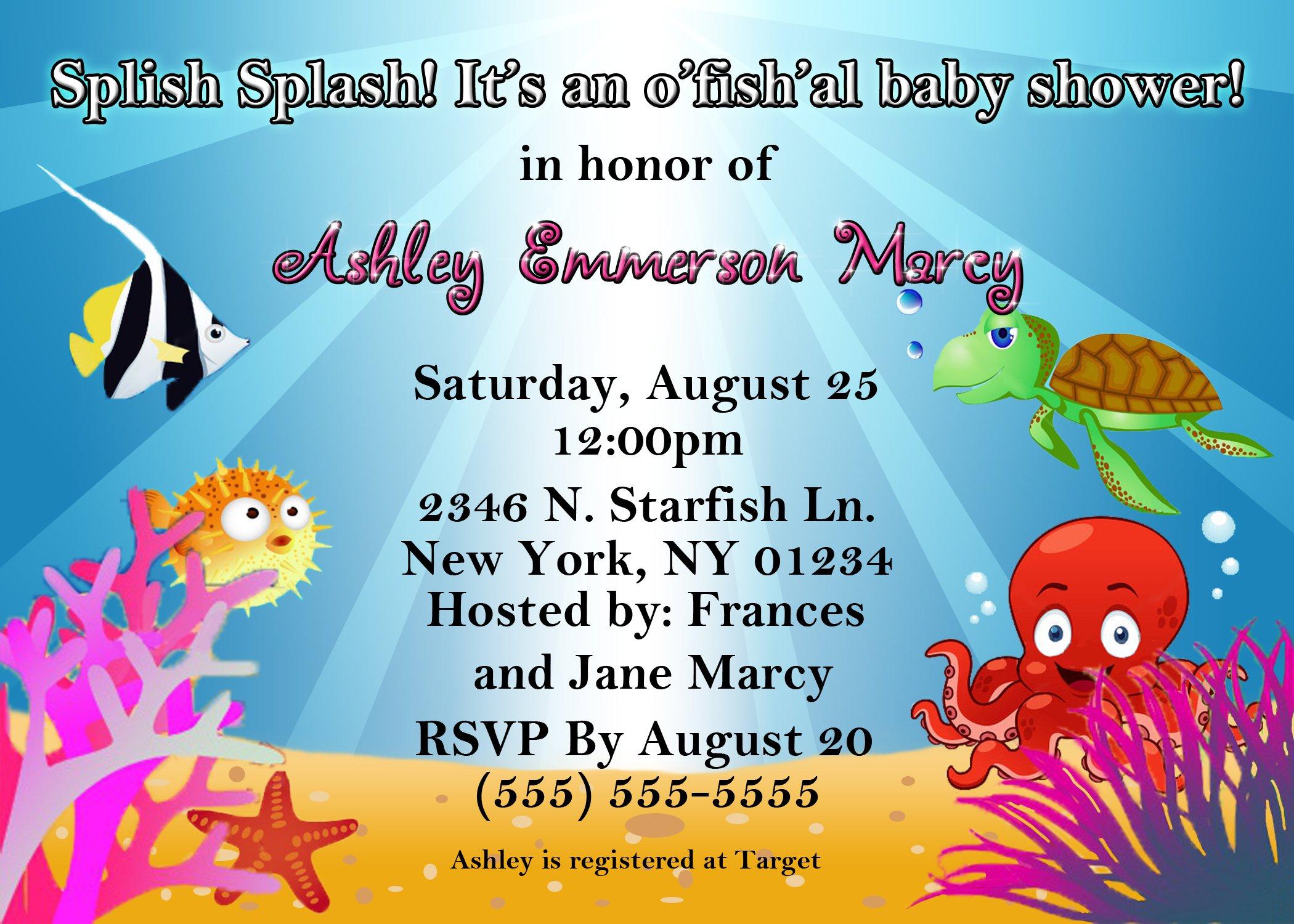 Ocean Party Invitation Ideas