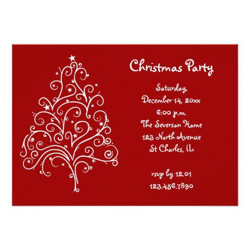 Office Christmas Lunch Invitation Wording