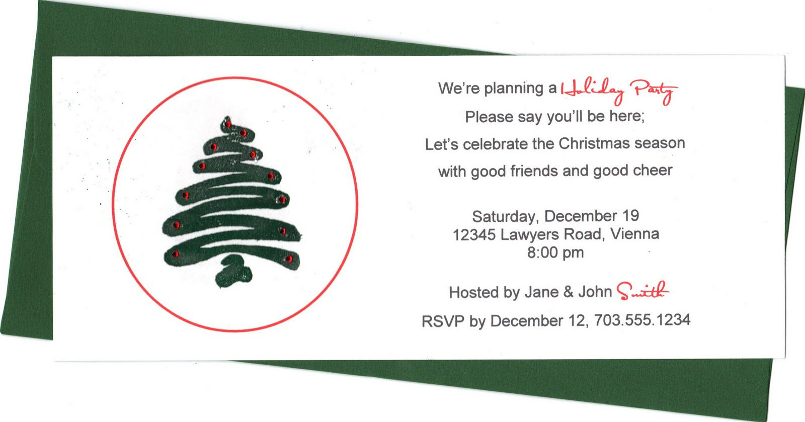 Office Christmas Party Invitations Wording