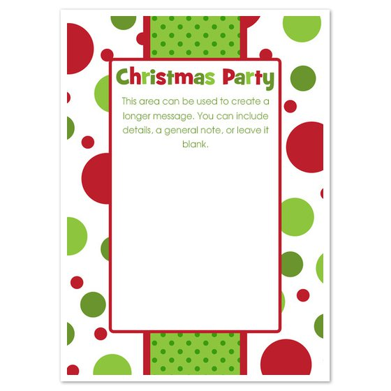 Office Holiday Party Invitation Templates
