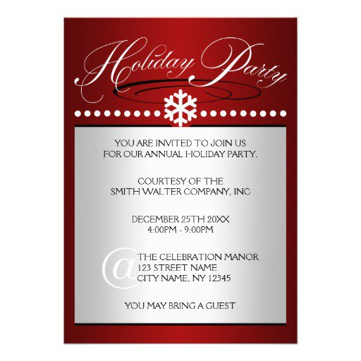 Holiday Party Invitations – Office Holiday Party Invites