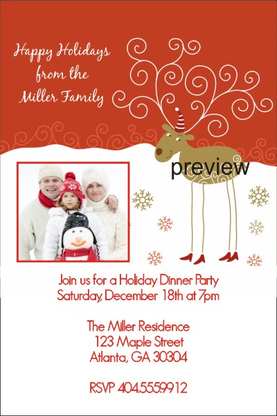 office holiday party invitations wording 400 x 600 - Corporate Holiday Party Invitations