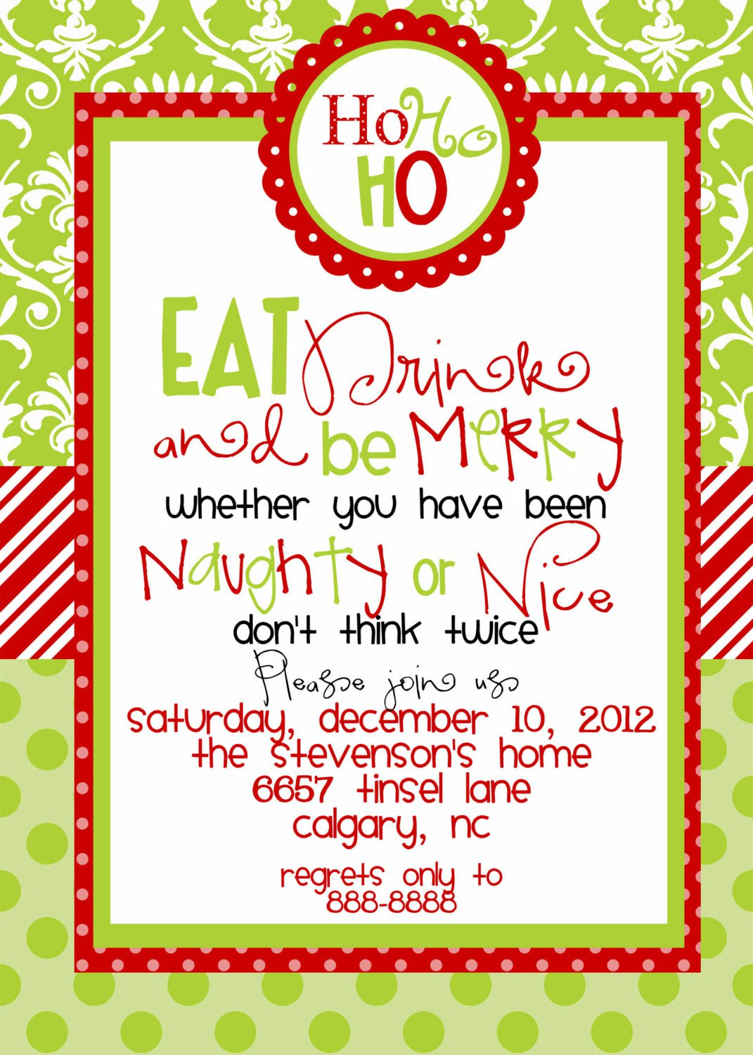 Office Party Invitations Examples