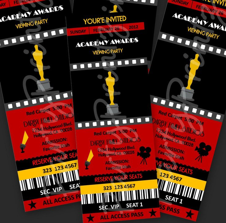 Old Hollywood Prom Invitations