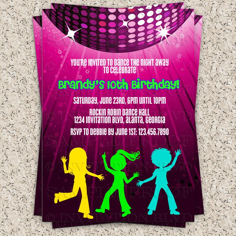 Old School Hip Hop Party Invitation Wording