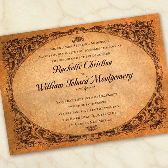 Old Wedding Invitations